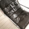 1970s Chrome & Leather Lounge Chair3