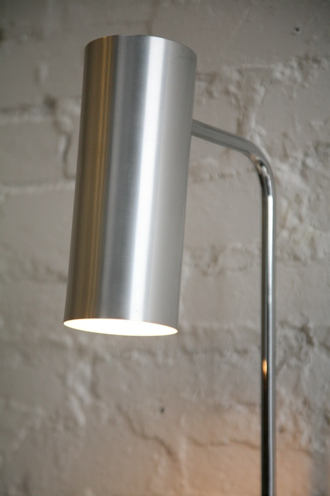 Modernist floor lamp by habitat cream and chrome modernist habitat floor lamp mozeypictures Choice Image