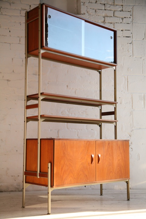 Teak 1960s Room Divider by Remploy UK | Cream and Chrome