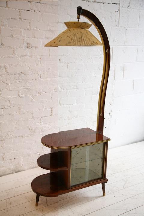 1950s Floor Lamp Cream And Chrome