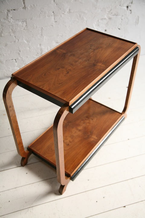 1930s Art Deco Walnut Side Table