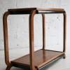 1930s Art Deco Walnut Side Table1