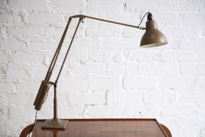 1950s Counter Balance Desk Lamp Cream And Chrome
