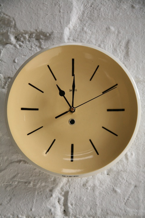 Ceramic 1960s Wall Clock by Smiths