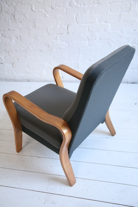 1930s Lounge Chair By Eric Lyons Cream And Chrome