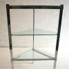 Glass and Chrome Shelving Unit by Merrow Associates UK 1