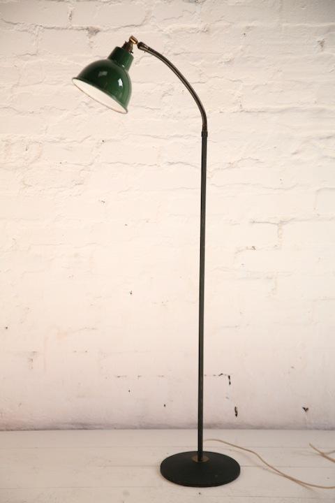 Industrial Floor Lamp | Cream and Chrome