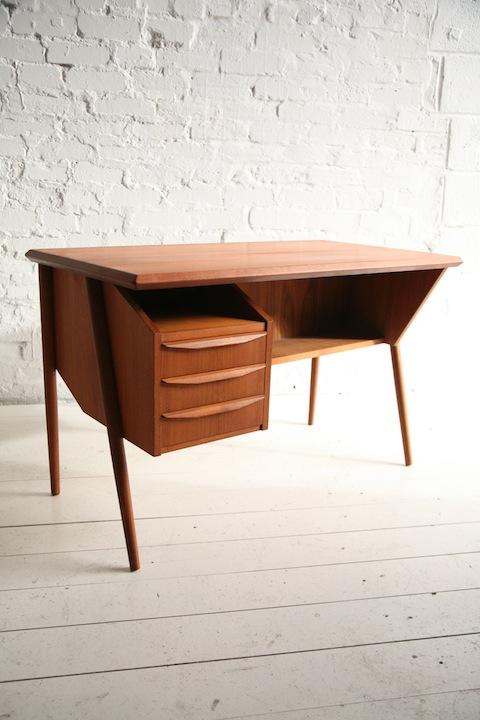 Teak 1960s Danish Desk 1