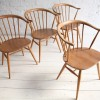 Vintage Ercol Cowhorn Dining Chairs 2