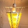 1950s Yellow Glass Ceiling Light