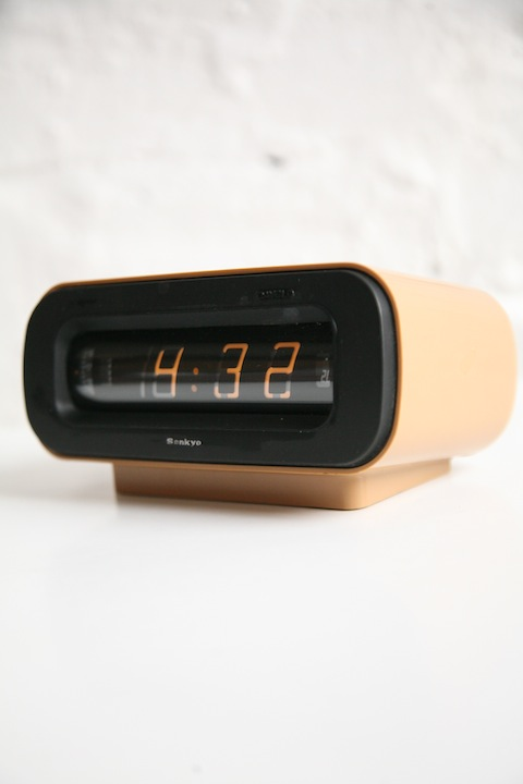 Sankyo Dayglo Digital 1960s Clock