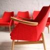 Set of 4 Orange 1950s Chairs 2
