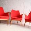 Set of 4 Orange 1950s Chairs 3