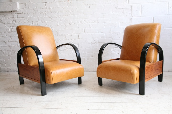 1930s leather armchairs 3