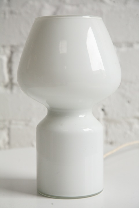 1960s Glass Table Lamp