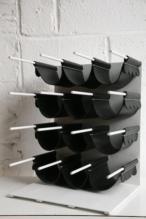 1970s Leather Wine Rack1