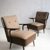 1950s Brown Lounge Chairs