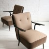 1950s Brown Lounge Chairs1