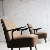 1950s Brown Lounge Chairs2