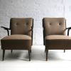 1950s Brown Lounge Chairs4