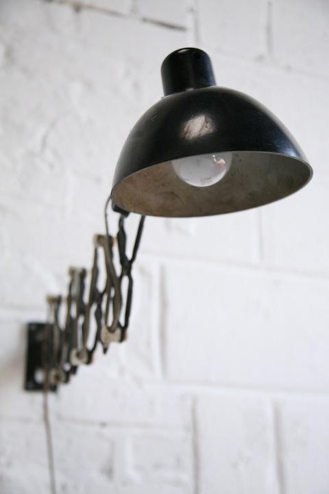 Top 1950s Scissor Wall lamp | Cream and Chrome @TH47