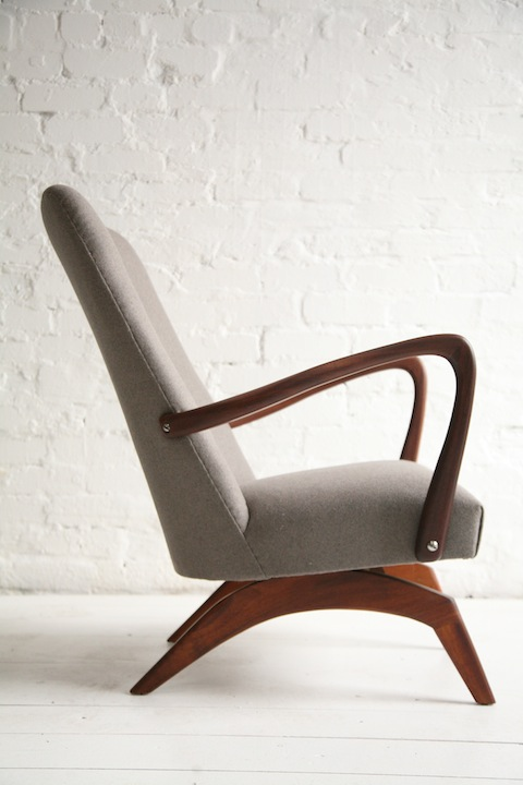 1960s Rocking Chair Cream And Chrome