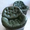 1970s Green Vinyl Chairs 1