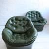 1970s Green Vinyl Chairs 2