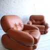 1970s Leather Chairs by Adriano Piazzesi Italy