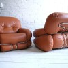 1970s Leather Chairs by Adriano Piazzesi Italy1