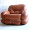 1970s Leather Chairs by Adriano Piazzesi Italy2