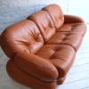 1970s Leather Sofa by Adriano Piazzesi Italy