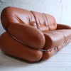 1970s Leather Sofa by Adriano Piazzesi Italy1