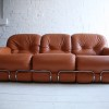 1970s Leather Sofa by Adriano Piazzesi Italy2