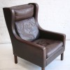 Borge Morgensen Leather Lounge Chair 1