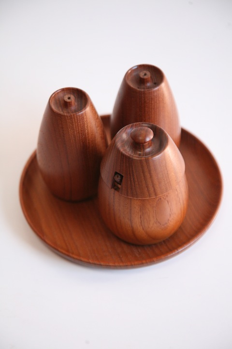 Danish Teak Cruet Set by Wiggers