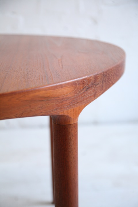 Teak Danish Dining Table By Harry Ostergaard Cream And