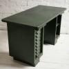 Vintage Industrial Green Metal Desk1
