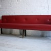 1950s Red Vinyl Bench 1