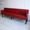 1950s Red Vinyl Bench 2