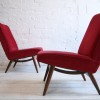 1960s Parker Knoll Red Chairs 3