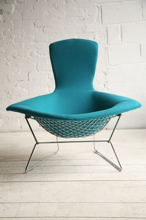 Bird Chair By Harry Bertoia For Knoll Cream And Chrome