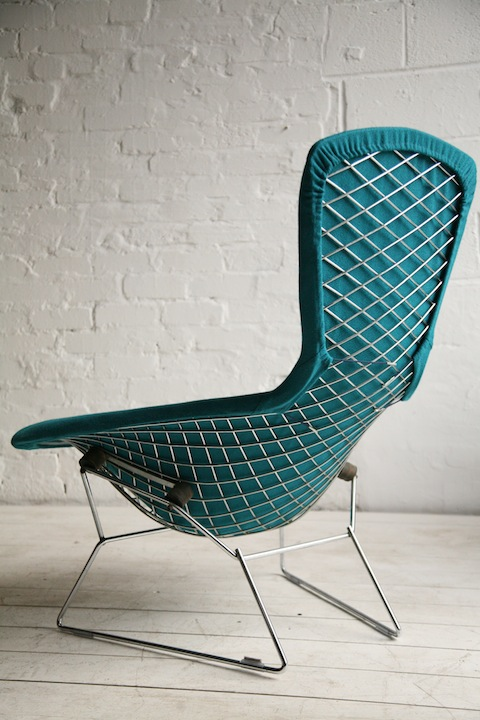 bird' chair by harry bertoia for knoll | cream and chrome
