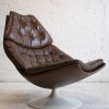 F585 Leather Lounge Chair by Geoffrey Harcourt for Artifort