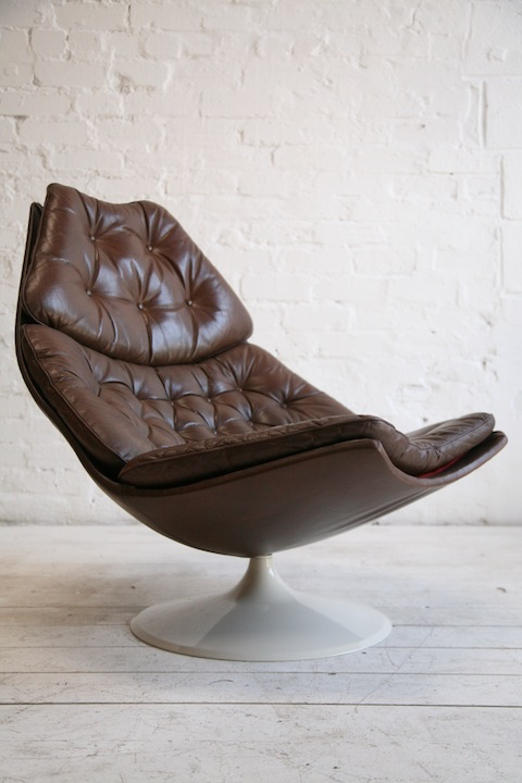 Cool F585 Leather Lounge Chair By Geoffrey Harcourt Cream And Theyellowbook Wood Chair Design Ideas Theyellowbookinfo