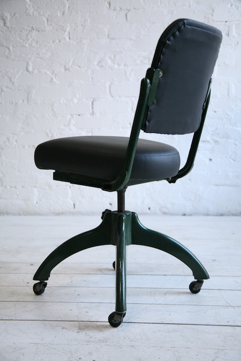 Vintage Desk Chair By Tansad Cream And Chrome
