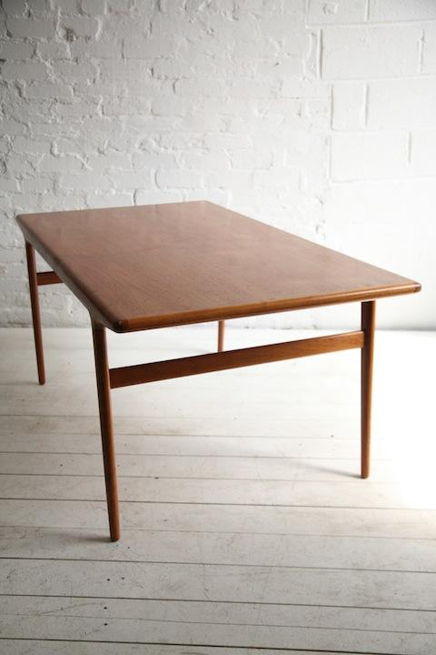 Teak Dining Table By Niels Moller Denmark Cream And Chrome