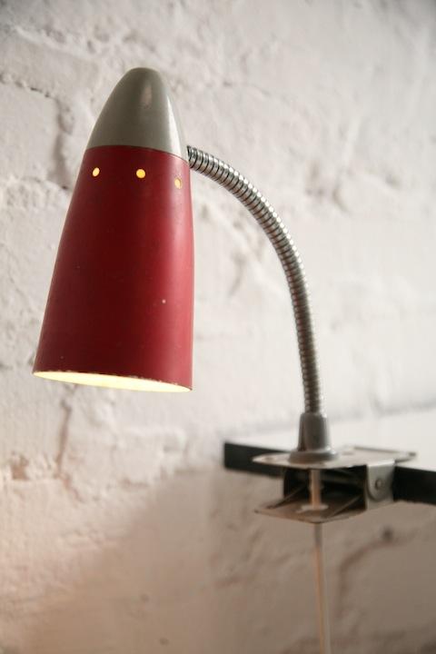1950s Clip on Desk Lamp