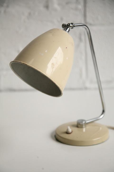 Vintage desk lamp cream and chrome 1950s cream desk lamp mozeypictures Choice Image
