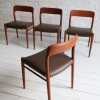Danish Teak Dining Chairs by Niels Moller
